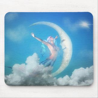 Sereia sob a lua Mousepad