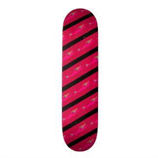 sereias cor-de-rosa nadadoras shape de skate 21,6cm