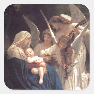 Serenade dos anjos adesivo quadrado