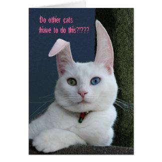 Serenidade como o cartão do coelho - personalizado
