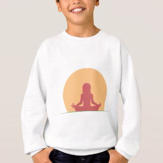 Serenidade da ioga do por do sol agasalho