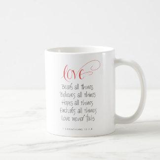 Série 1 do amor caneca de café
