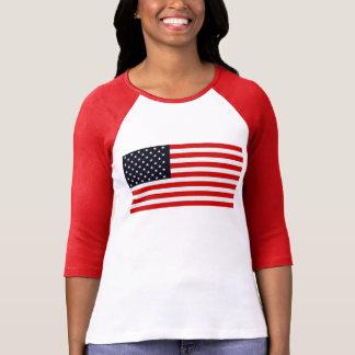 Série AMERICANA da BANDEIRA dos EUA E.U. Camiseta