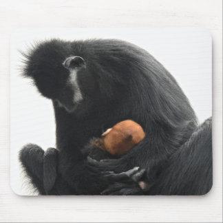 Série animal de Mousepad - Gibbons Branco-cheeked
