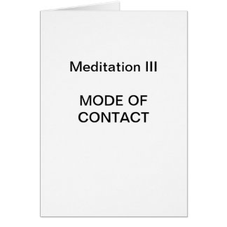 Série da meditação da DK: Meditação III - CARTÃO