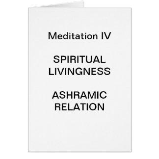 Série da meditação da DK: Meditação IV - CARTÃO
