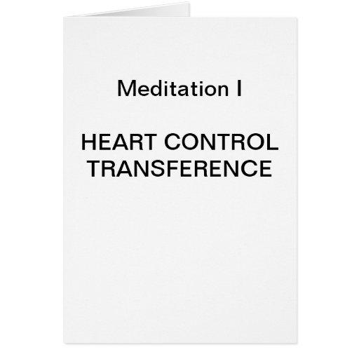 Série da meditação da DK: Meditação mim - CARTÃO