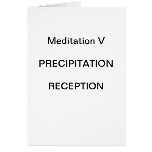 Série da meditação da DK: Meditação V - CARTÃO