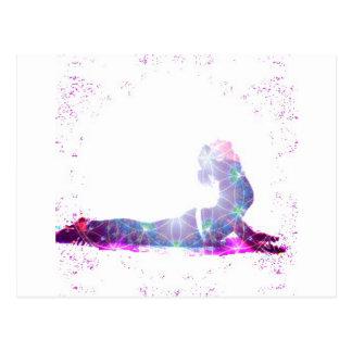Série da pose da ioga do universo da cobra cartão postal