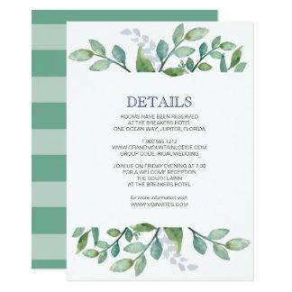 Série das hortaliças do cartão de detalhes convite 11.30 x 15.87cm
