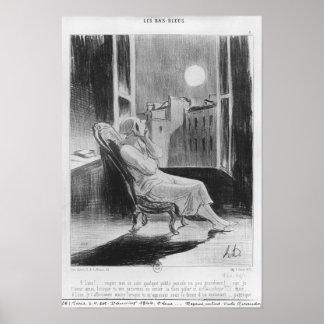 """Série de """"Bas-Azuis Les"""", lua de O Poster"""