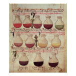 Série de flagons para a análise de urina poster