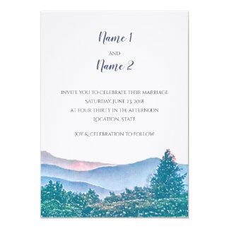 Série do convite do casamento da montanha