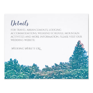 Série do convite do casamento da montanha - cartão