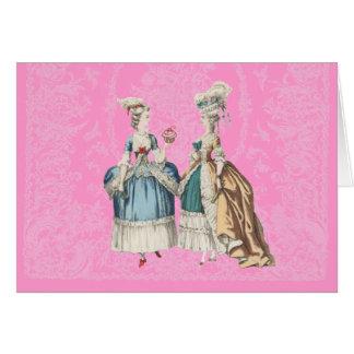 Série do vintage de Marie Antoinette -… - Cartão De Nota