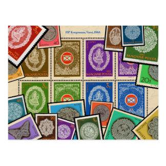 Série húngara do selo do laço - 1960 cartão postal