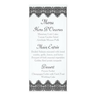 Série preta elegante do casamento do monograma do convite 10.16 x 23.49cm