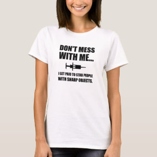 Seringa da facada médica camiseta