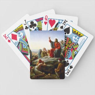 Sermão na montagem baralho de cartas