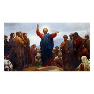 Sermão na montagem cartões de visitas