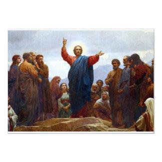 Sermão na montagem convite 12.7 x 17.78cm