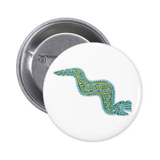 Serpente-turquesa e ouro maias botons