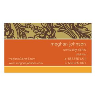 Serra modelo de cartão de negócios da tangerina do cartão de visita