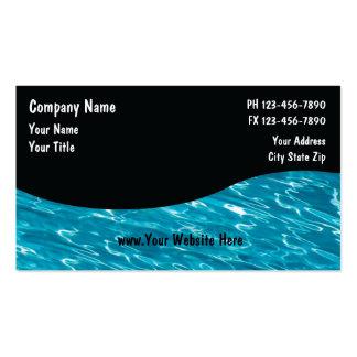 Serviço Cards_5 da piscina Cartão De Visita