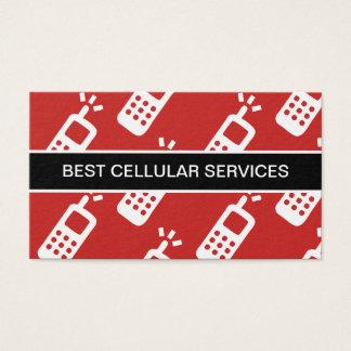 Serviço celular de telefone móvel cartão de visitas