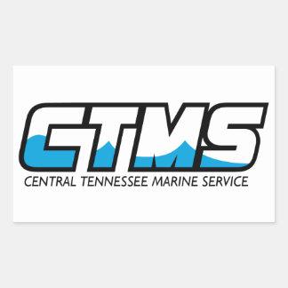 Serviço central do fuzileiro naval de Tennessee Adesivo Em Formato Retângular