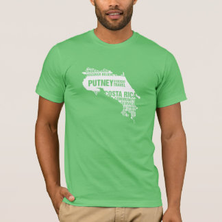 Serviço comunitário Costa Rica em cores múltiplas Camiseta