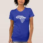 Serviço comunitário Tanzânia em cores múltiplas T-shirts