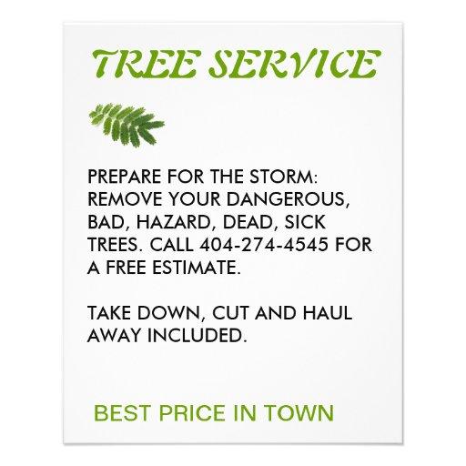 serviço da árvore panfleto personalizado