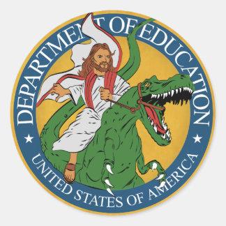 Serviço da educação - Jesus em uma etiqueta de
