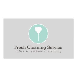 Serviço da limpeza, estilo IV do vintage da Cartão De Visita