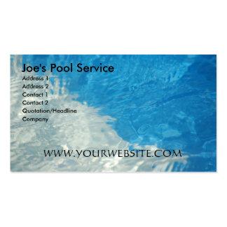 Serviço da piscina cartões de visita