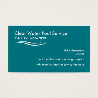Serviço da piscina cartão de visitas