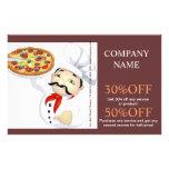 Serviço de alimentação moderno da loja do supermer panfletos personalizados