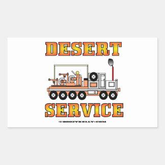 Serviço de deserto de Slickline, cabo, campo Adesivo Em Forma Retangular