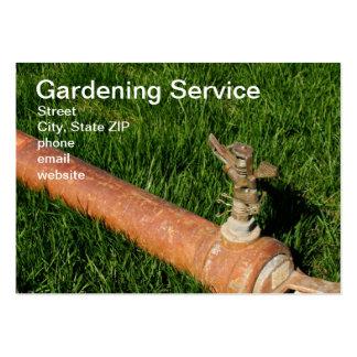 Serviço de jardinagem cartão de visita grande
