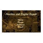 Serviço de reparações da máquina e do motor modelo de cartões de visita