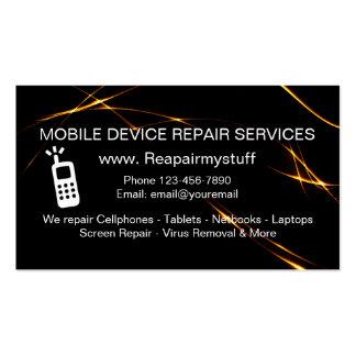 Serviço de reparações do dispositivo móvel cartão de visita