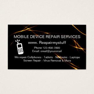 Serviço de reparações do dispositivo móvel cartão de visitas
