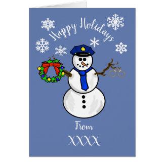 Serviço do cartão de Natal do boneco de neve do