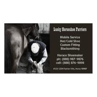 Serviço do casco do Farrier dos calçados do cavalo Cartão De Visita