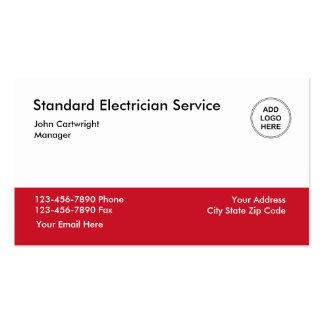 Serviço do eletricista cartão de visita