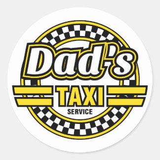 Serviço do táxi do pai - etiquetas engraçadas para