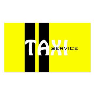 Serviço do táxi/motorista de táxi modelo cartões de visita