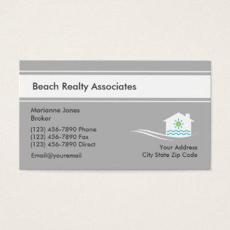 Serviço dos bens imobiliários da praia cartão de visitas