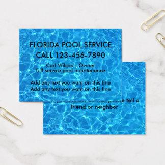 Serviço legal da piscina cartão de visitas